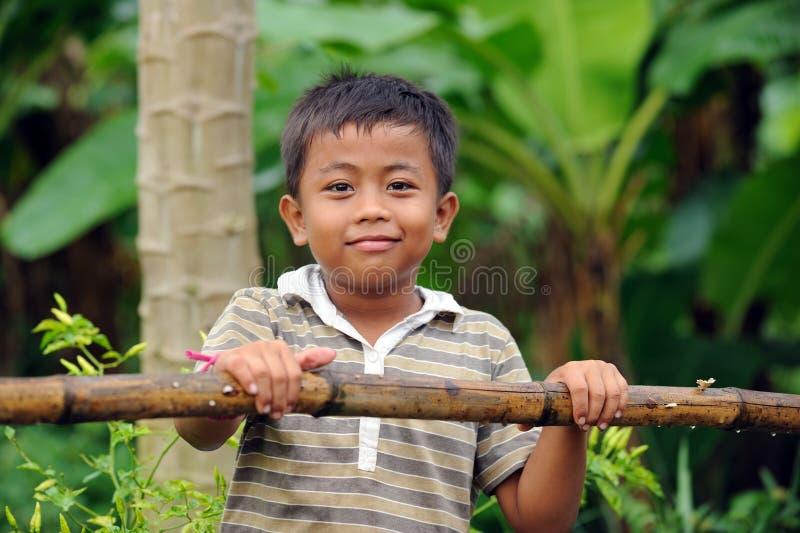 Bambino indonesiano fotografia stock