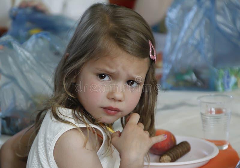 Bambino insoddisfatto fotografie stock
