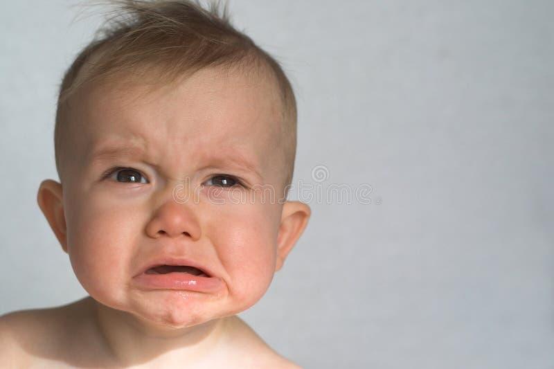 Bambino irritabile fotografia stock