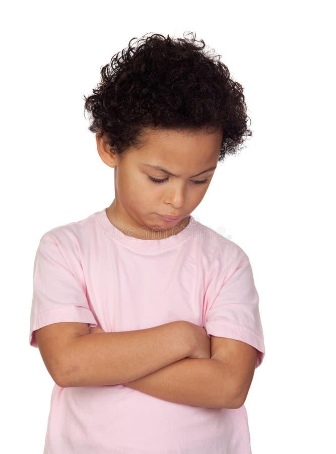 Bambino latino arrabbiato fotografie stock libere da diritti