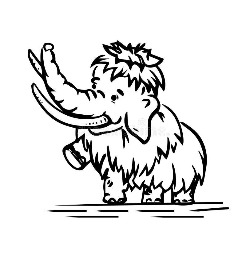 Bambino-mammut immagine stock