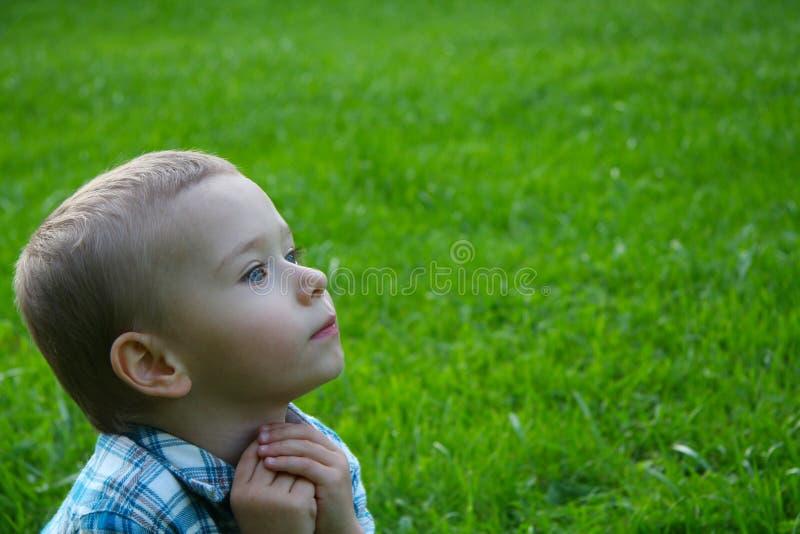 Bambino in natura. fotografie stock