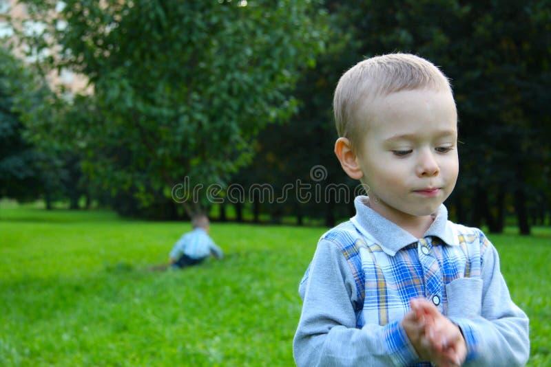 Bambino in natura. immagine stock libera da diritti