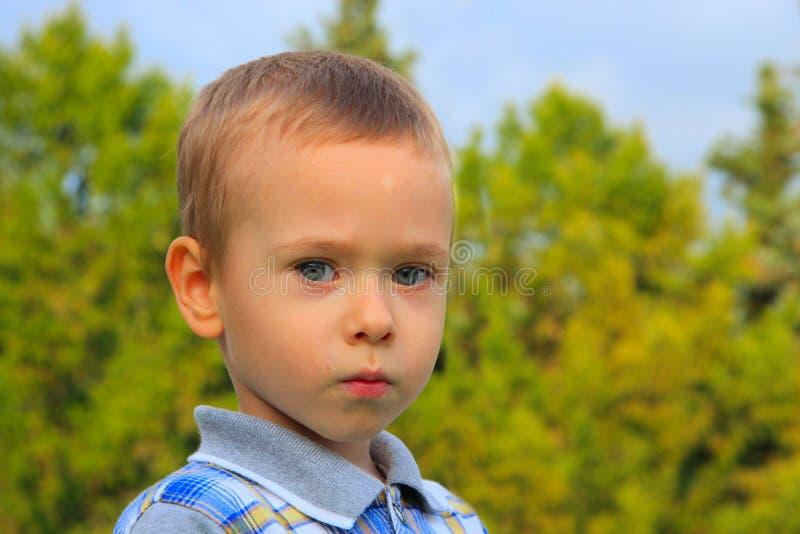 Bambino in natura. fotografia stock libera da diritti