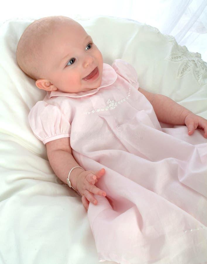 Bambino nel colore rosa fotografie stock libere da diritti