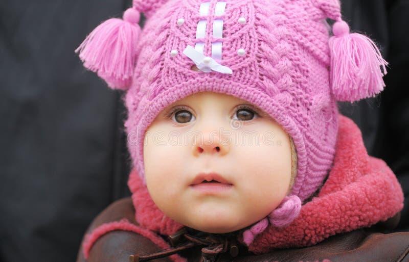 Bambino Nell Intestazione Fotografia Stock