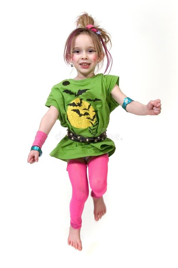 Bambino Punk Di Salto Fotografia Stock Libera da Diritti
