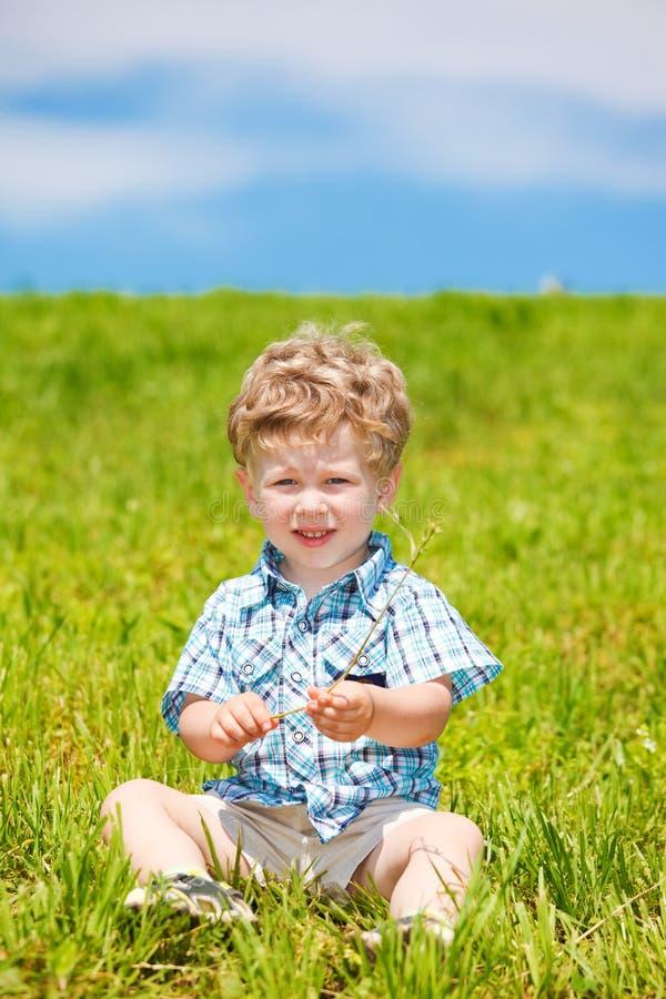 Bambino riccio fotografie stock