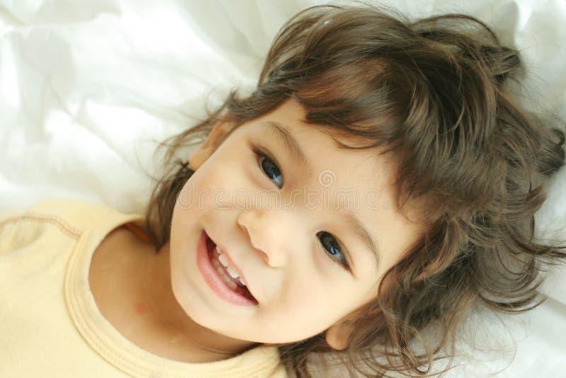 Bambino riempito di gioia fotografie stock libere da diritti