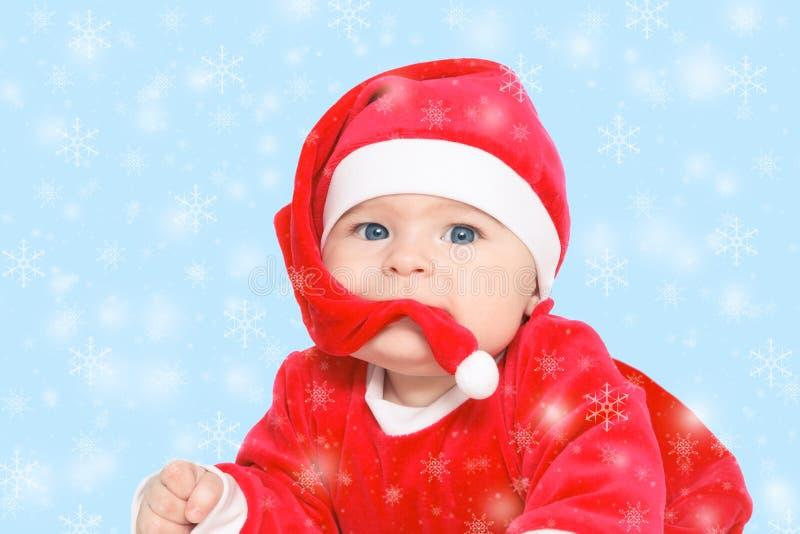 Bambino Santa Claus fotografia stock