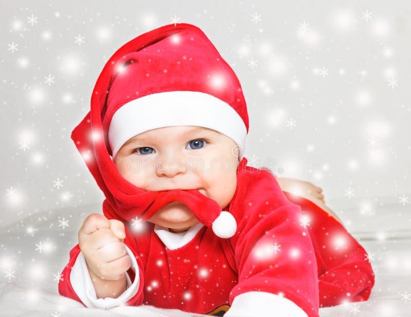 Bambino Santa Claus immagine stock