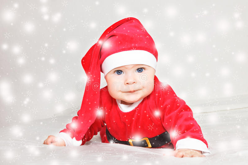 Bambino Santa Claus immagini stock