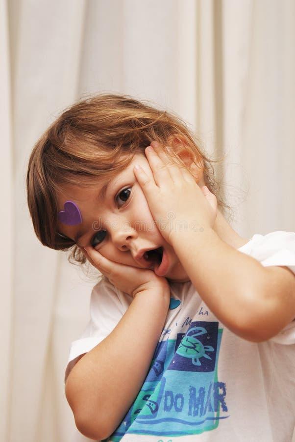 Bambino sorpreso immagine stock libera da diritti