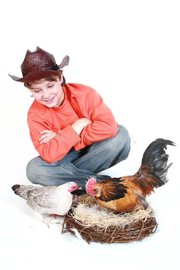 Bambino sorridente del cowboy immagini stock libere da diritti