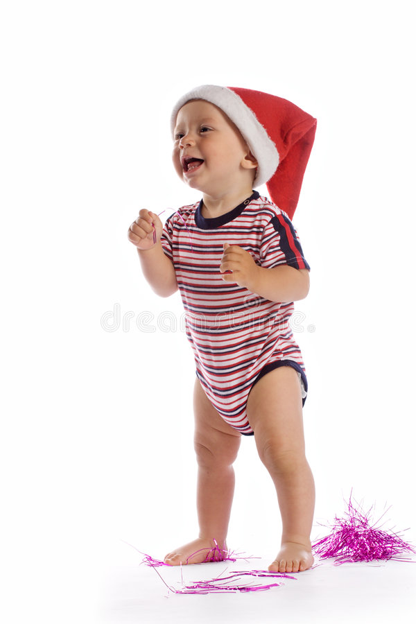 Bambino sorridente della Santa fotografia stock libera da diritti
