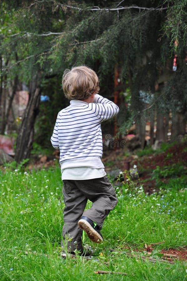 Bambino su erba immagini stock libere da diritti