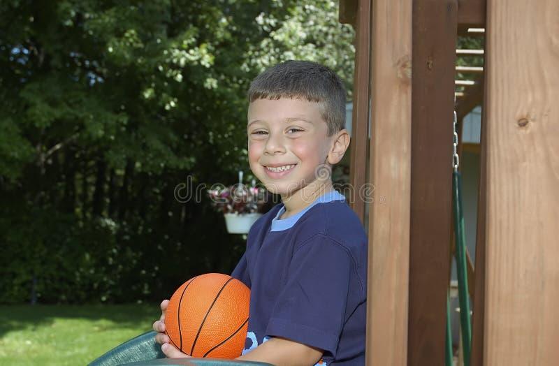 Bambino su Playset fotografie stock libere da diritti