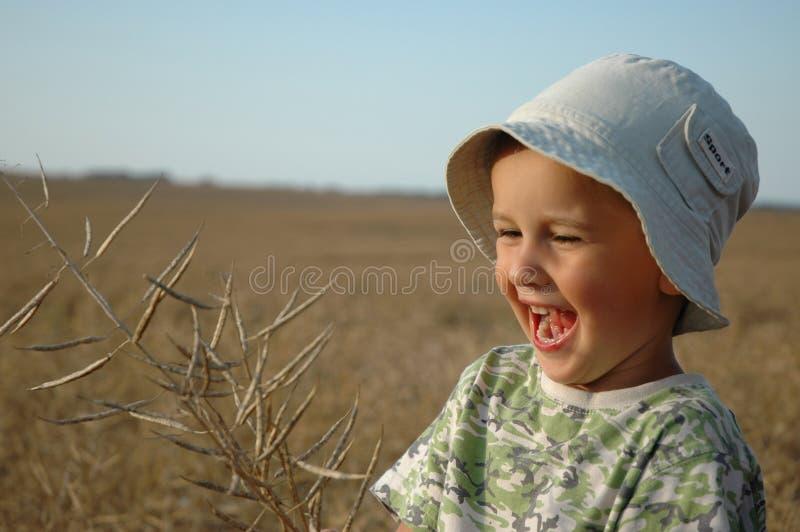 Bambino sul campo immagine stock