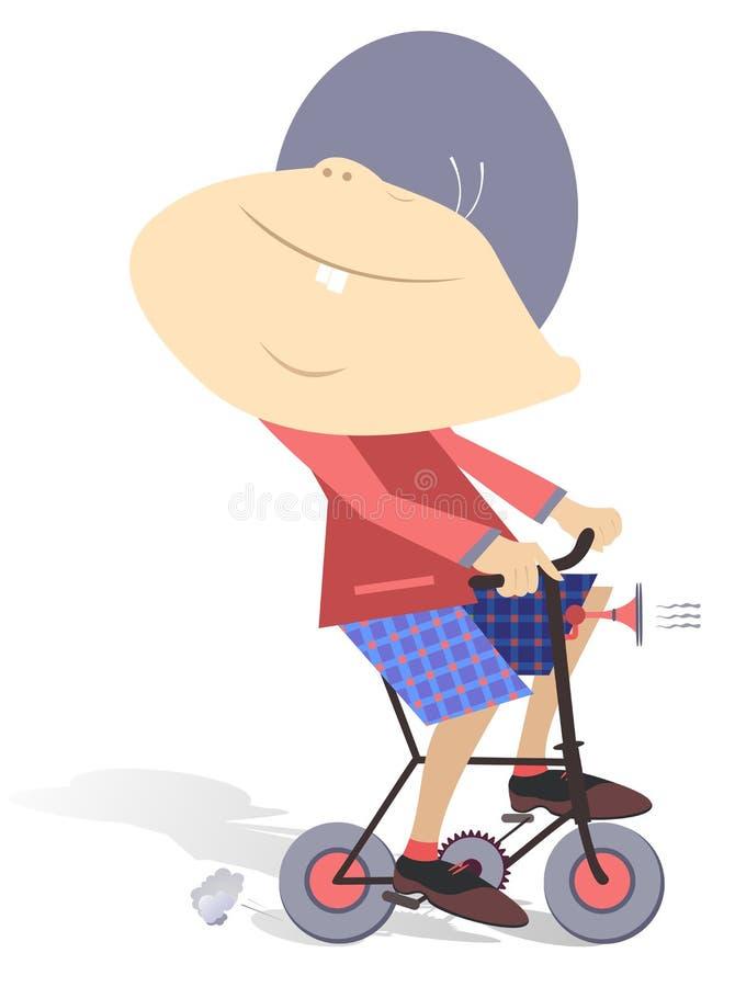 Bambino sulla bici illustrazione di stock
