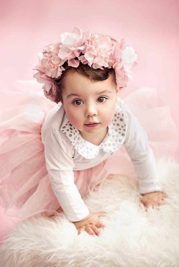 Bambino sveglio come ballerino di balletto fotografia stock libera da diritti