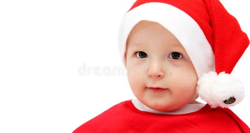 Bambino sveglio di Santa immagini stock libere da diritti