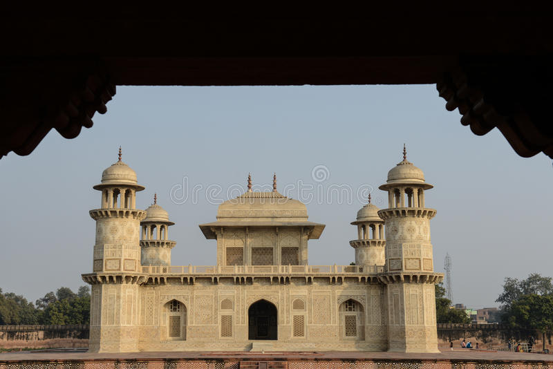 Bambino Taj a Agra India fotografia stock libera da diritti