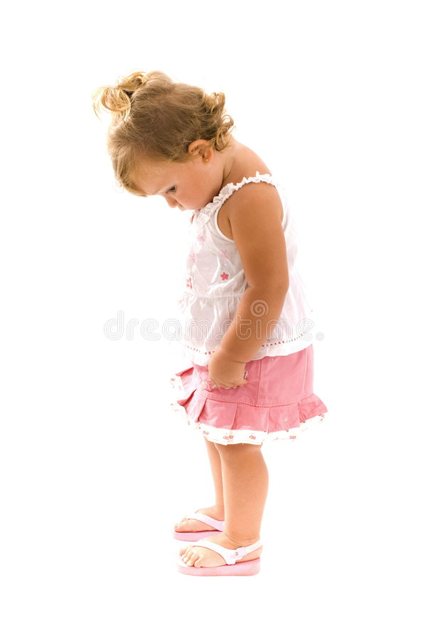 Bambino timido immagine stock