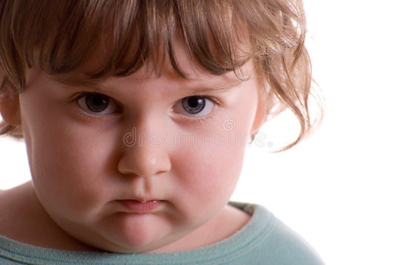 Bambino triste immagine stock