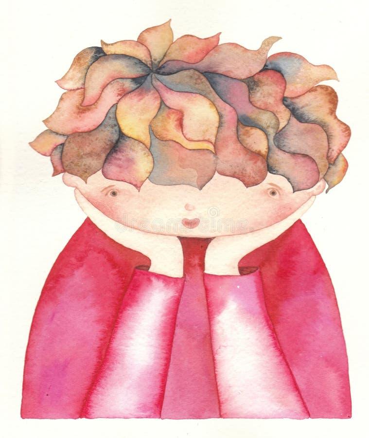 Bambino triste illustrazione vettoriale
