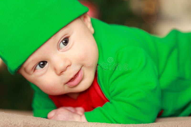 Bambino, verde, fronte, rosso fotografia stock