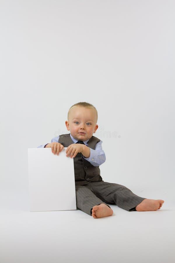 Bambino in vestito di affari fotografia stock