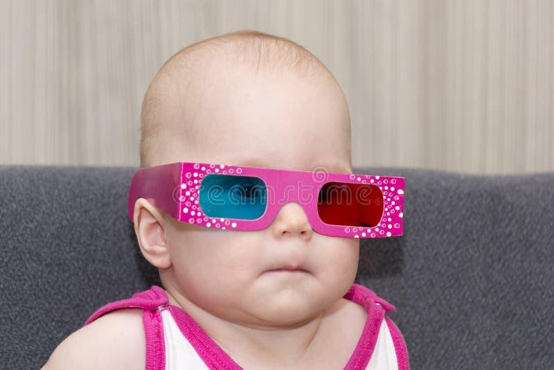Bambino in vetri 3D immagine stock libera da diritti