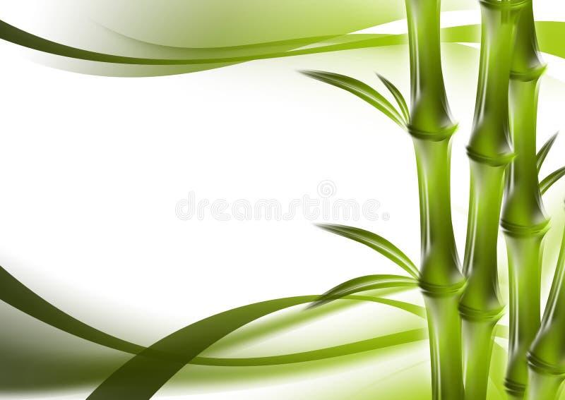 Bamboe en abstracte achtergrond stock illustratie