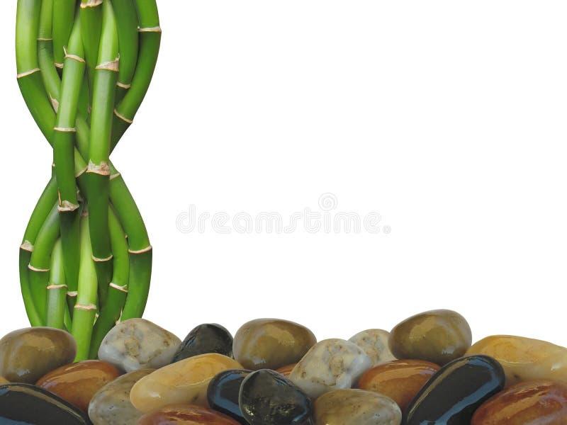 Bamboe en Zen Rock Background stock foto's