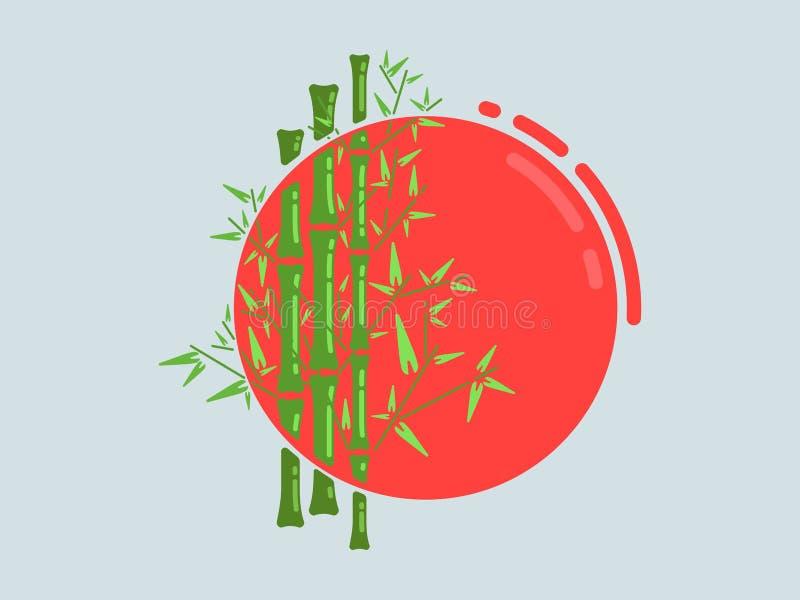 Bamboe en zon royalty-vrije stock foto