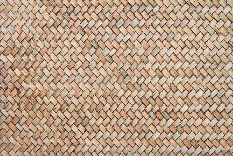 Bamboe geweven achtergrond stock afbeelding