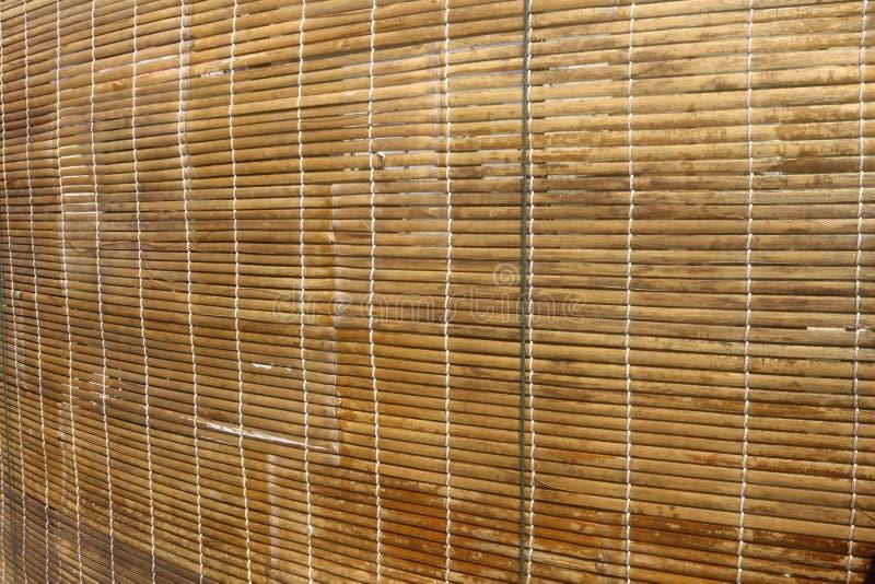 Bamboe houten gordijn royalty-vrije stock afbeelding