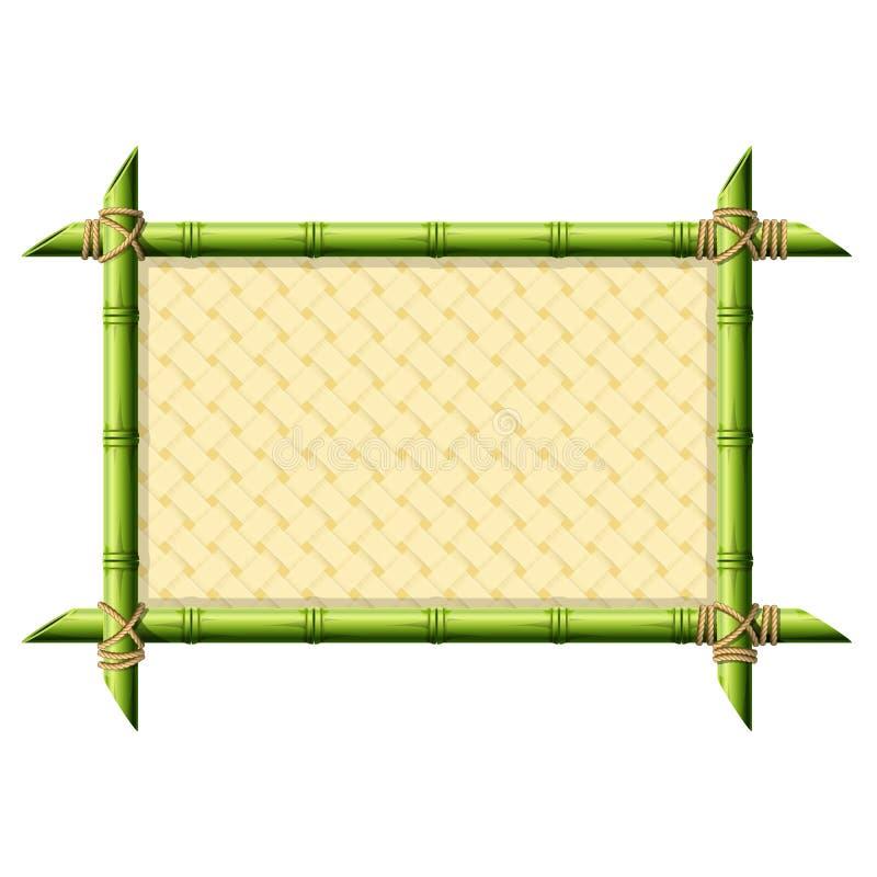 Bamboekader met rieten patroon vector illustratie