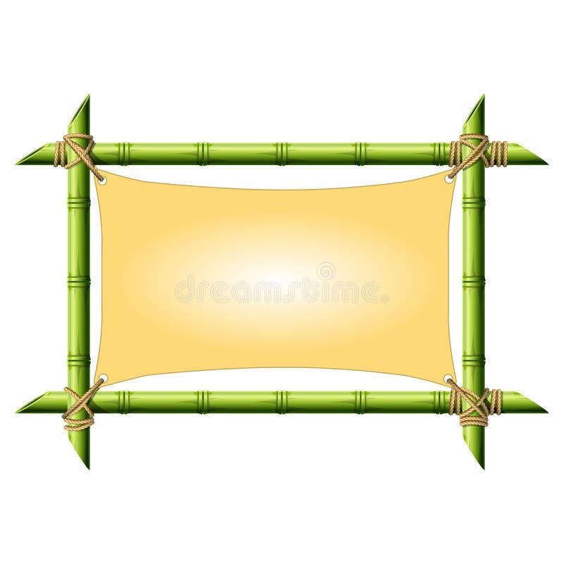 Bamboekader met uitgerekt canvas vector illustratie