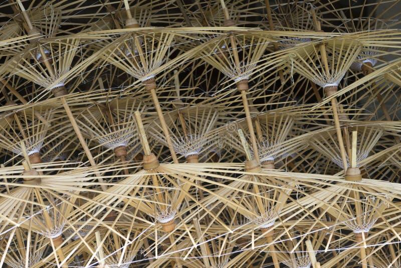 Bamboekaders van Document Paraplu royalty-vrije stock foto's