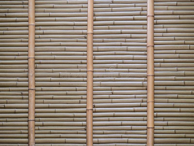Bamboemuur, de achtergrond van de Bamboeomheining de lokale bescherming van het gebieds stedelijke huis tegen de dief royalty-vrije stock foto's