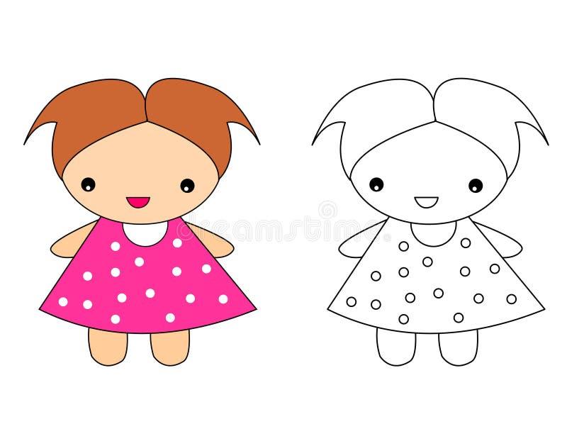 Bambola illustrazione di stock
