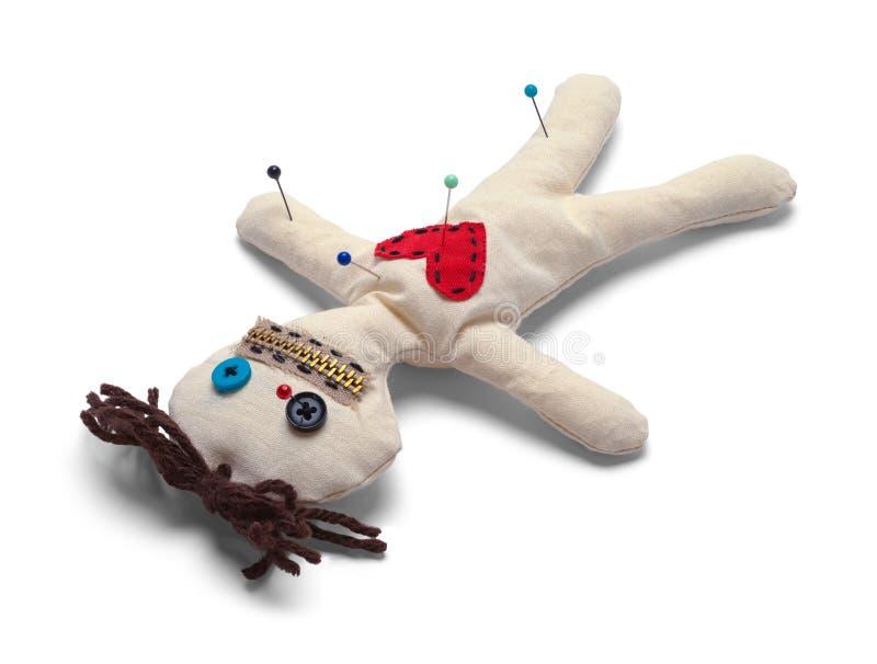 Bambola capovolta di voodoo fotografia stock
