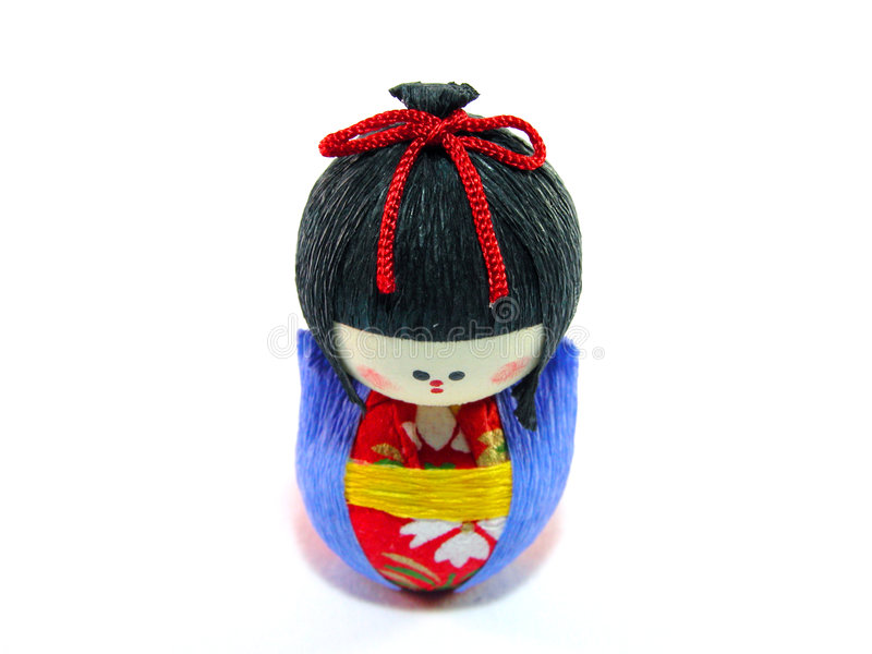 Bambola del documento giapponese fotografia stock