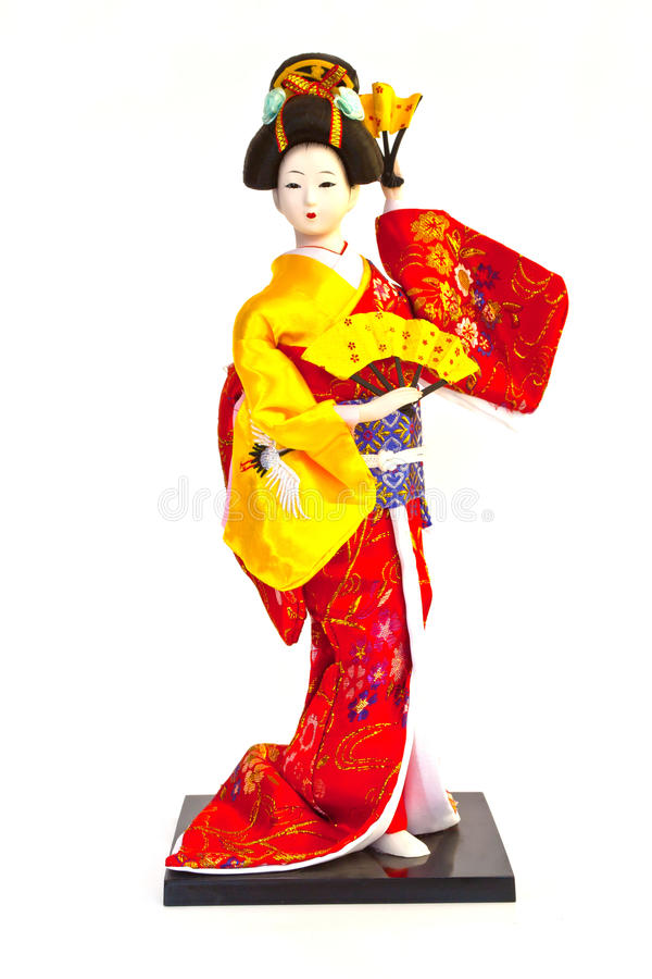 Bambola del geisha fotografie stock