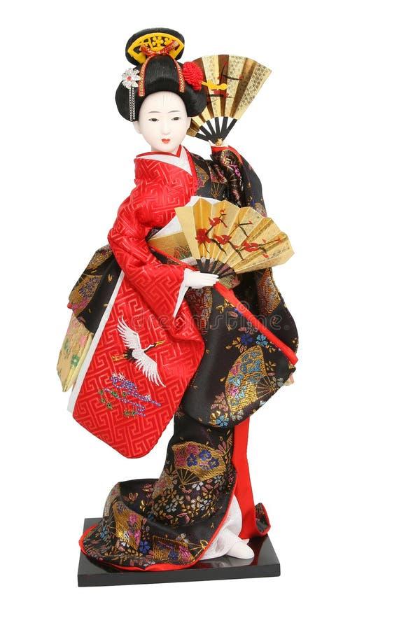 Bambola del geisha. immagini stock