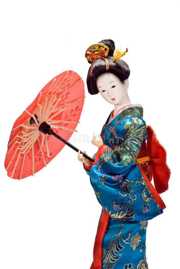 Bambola del geisha immagine stock libera da diritti