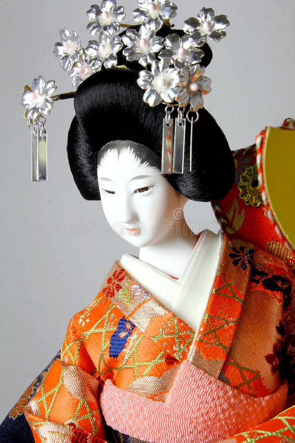 Bambola del giapponese del geisha fotografie stock libere da diritti