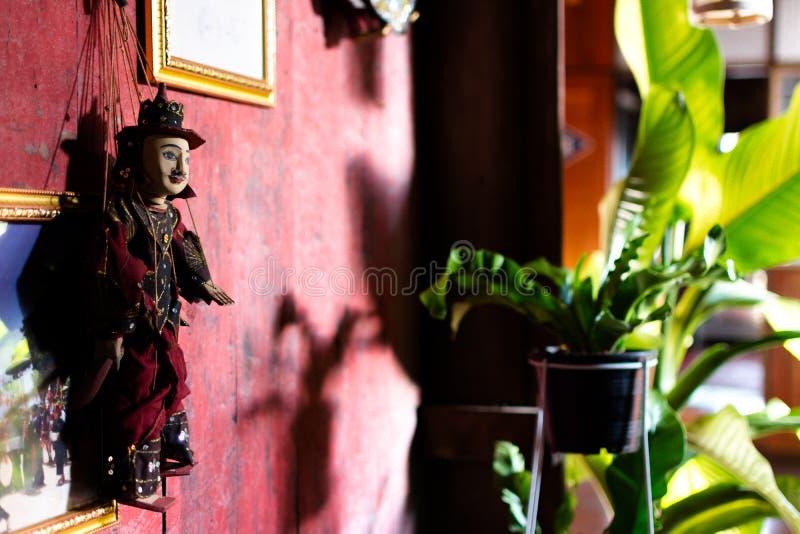 Bambola del Myanmar di tradizione, il ricordo del Myanmar fotografia stock