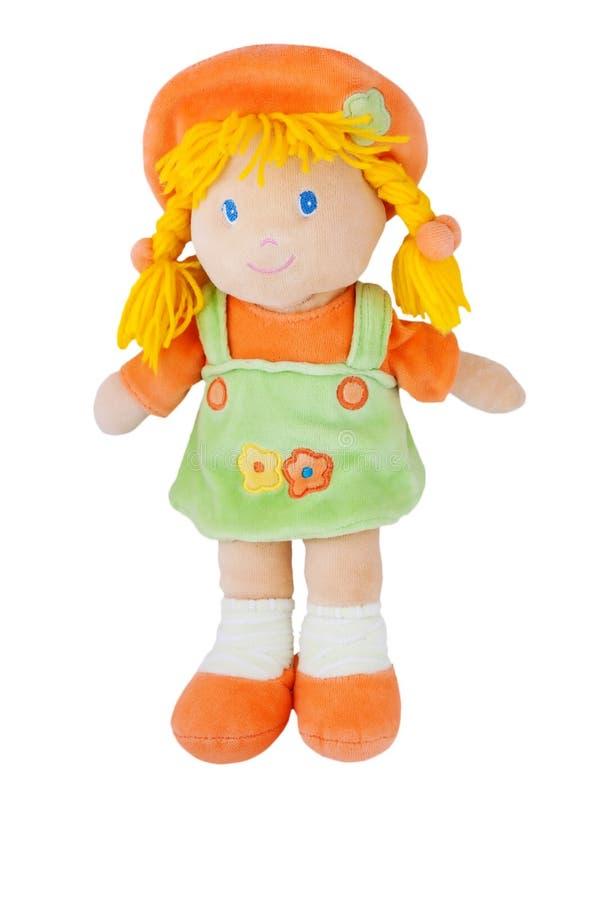 Bambola del tessuto fotografia stock